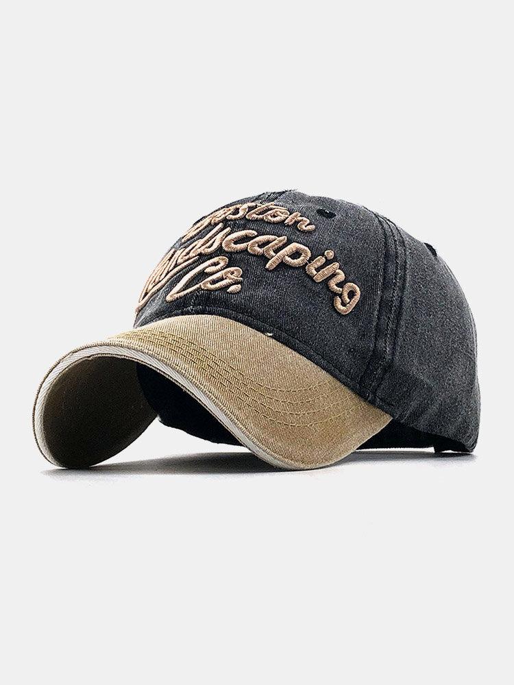 ユニセックスコットン太い文字パターン刺繡調節可能なカジュアル野球帽