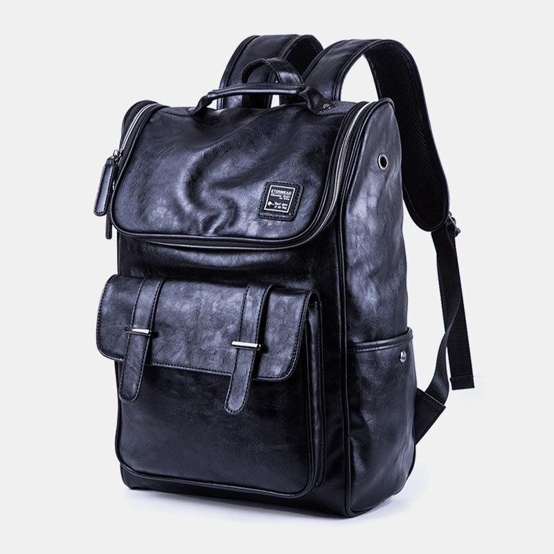 Men Outdoor Headphone Plug 15.6 Inch Laptop Bag Backpack