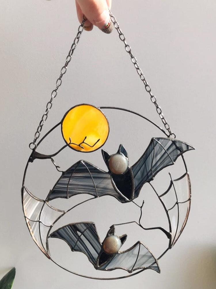 ひまわりコウモリの形風鈴屋内屋外吊り飾りサンキャッチャー家の装飾祭誕生日プレゼント