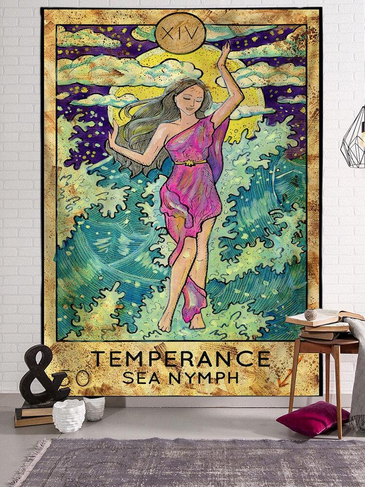 Göttin Meerjungfrau Tarot Muster Plüsch Stoff Tapisserie Strandtuch Home Wandbehang Kunst Tapisserie Dekor