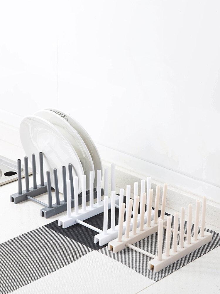 1Pc Multi-function Bowl Plate Dish Drainer Rack Shelf For Kitchen Tools Storage Pot Lid Holder Sink Shelving Organizer Kitchen Tool