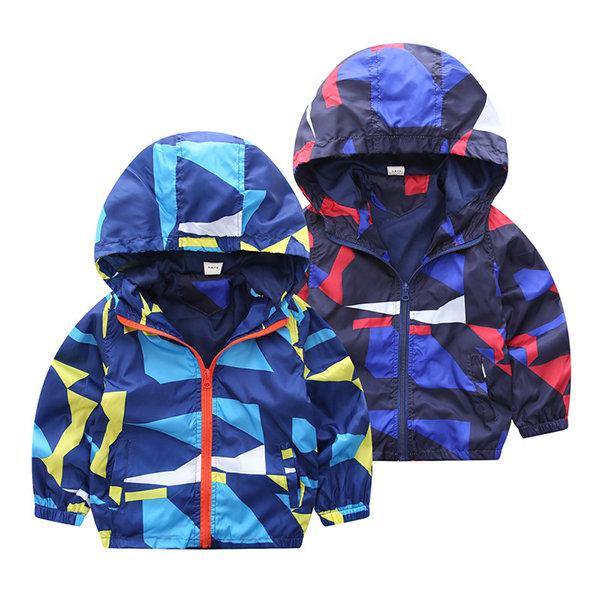 ffbab59cdd9d8 Manteaux coupe-vent pour garçons Manteaux Enfants Vêtements d'extérieur  Vêtements à capuche