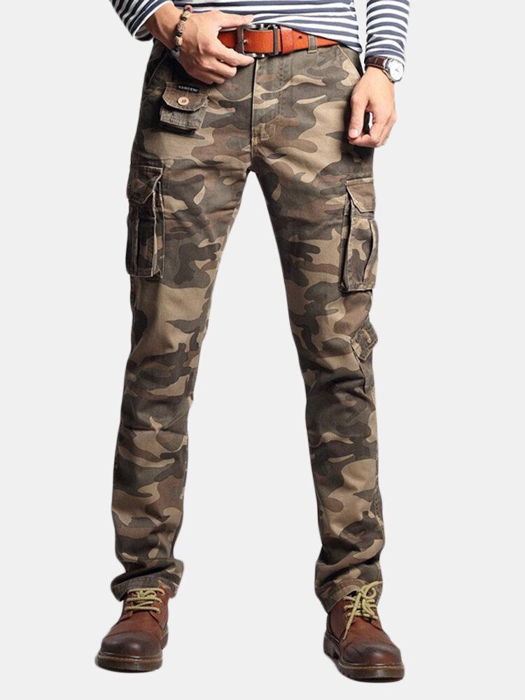 Men's Cargo Pants Multi Pockets Outdoor Camo Casual Pants