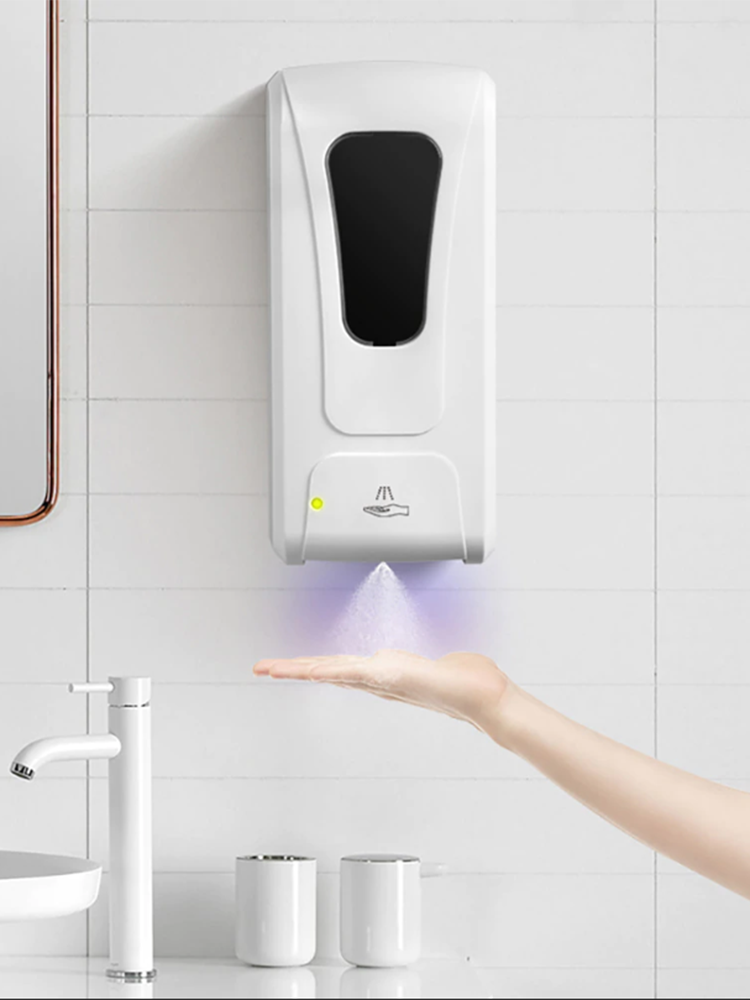 1000ml Wall-Mount Automatic IR Sensor Soap Dispenser Touch-Free Lotion Pump Touchless Liquid Home For Kitchen Bathroom