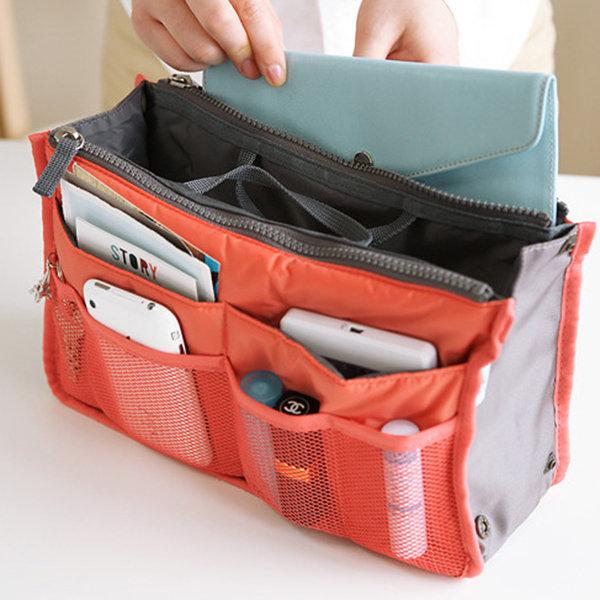 29dfc29a0 Viagens inserir bolsa organizador bolsa de nylon forro tidy cosméticos bolsa  grande para mulheres
