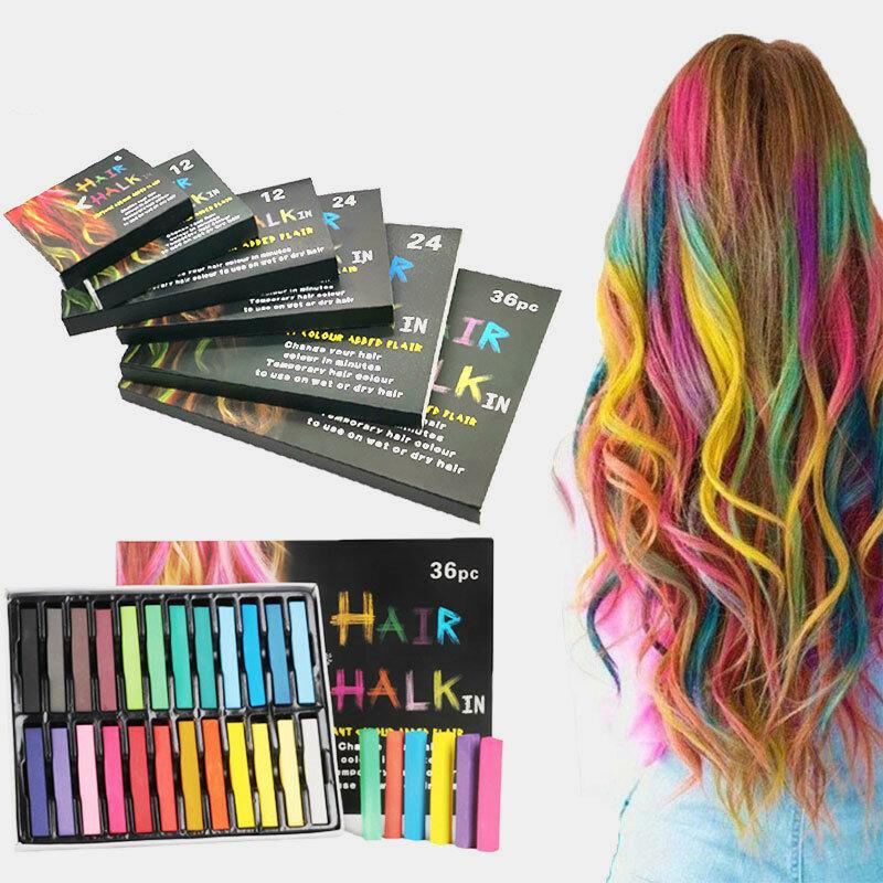 Disposable Hair Dye Pen Non-Toxic Hair Dye Crayon Chalk Girls Kids Party Cosplay DIY Temporary Styling Tools