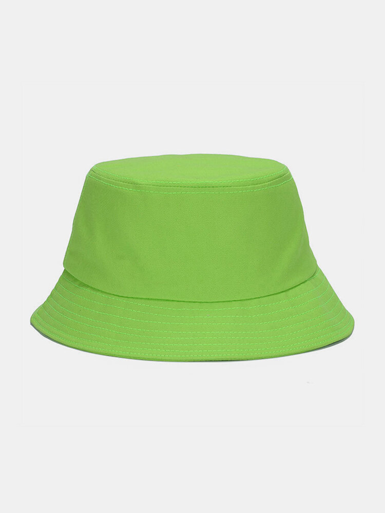 Unisex Fashion Casual Jelly Color Solid Poetable Sunscreen Outdoor Sun Hat Bucket Hat