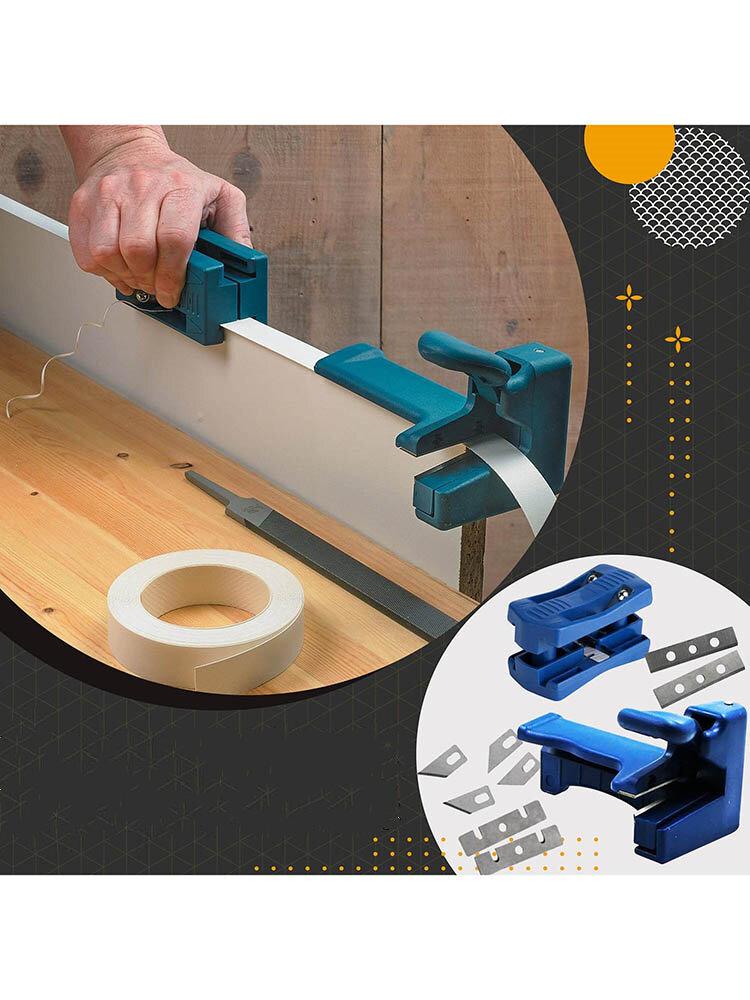 1PC木工マニュアルエッジバンディング工作機械プレーナーナイフシートエッジストリップPVCストレートエッジトリマーヘッダー