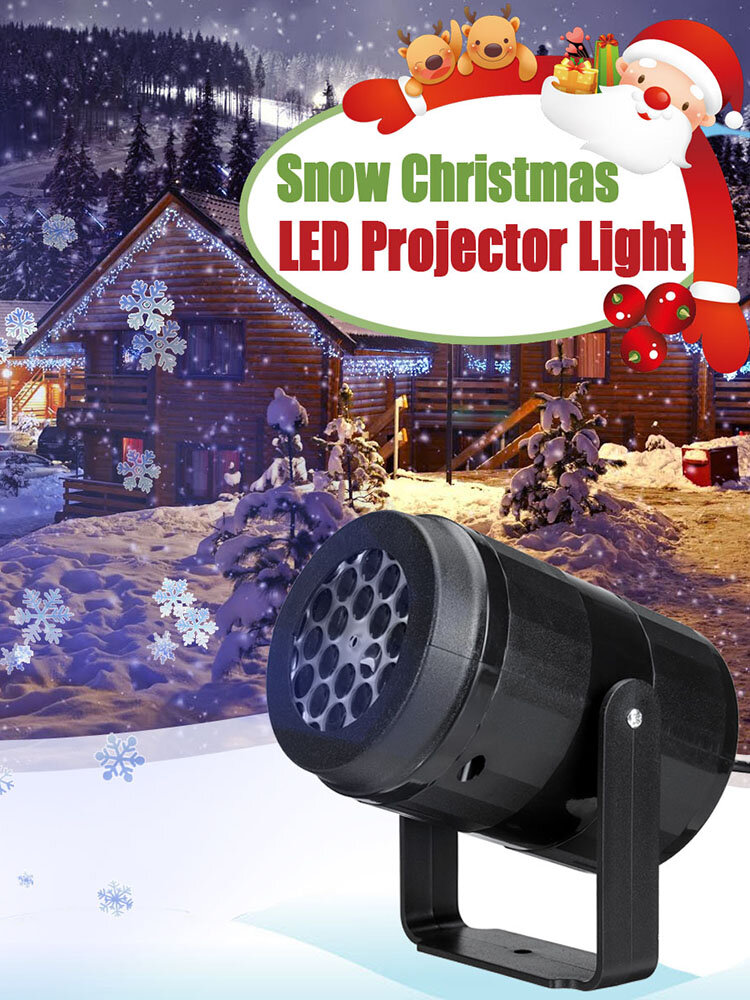 Christmas Snowflake Projector Light Lamp Rotating LED Stage Lighting Effect Party Lights