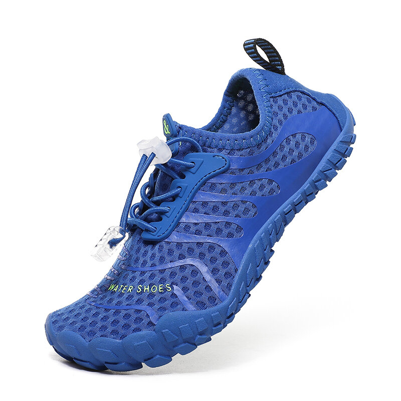 Unisex Kids Outdoor Mesh Fabric Breathable Non Slip Wearable Soft Water Sneakers