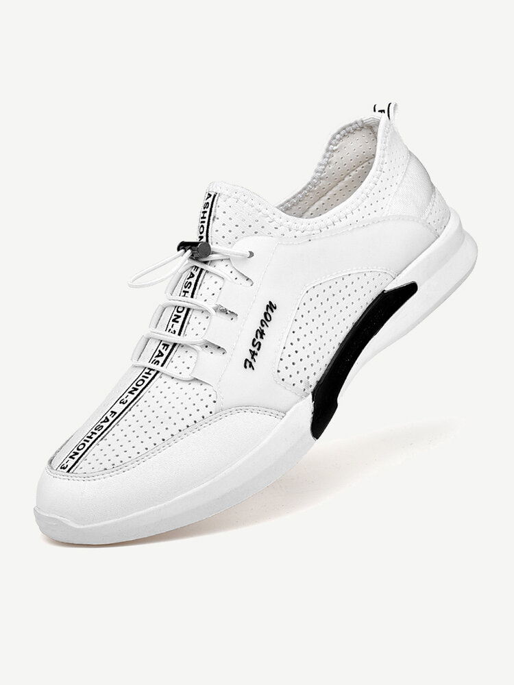 Men Hollow Out Breatnable Lace Up Casual Running Sneakers
