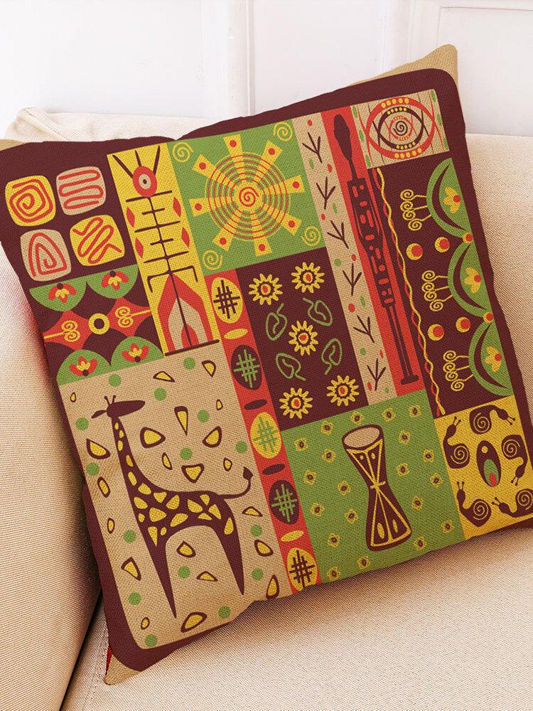 Creative Folk Style Linen Cotton Cushion Cover Home Sofa Decor Soft Throw Pillow Cover Pillowcases