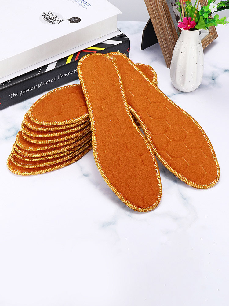 Winter Warm Foot Pads Thickening Plus Velvet Deodorant Sweat-Absorbent Breathable Insoles Foot Care