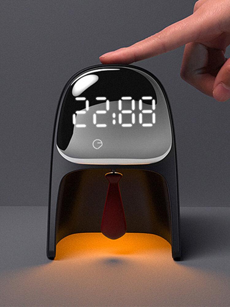 Time Gentleman Alarm Clock Light Intelligent Multi-function Timed Sleep Sound Wake Up Bedroom Bedside Table Lamp Student Gift
