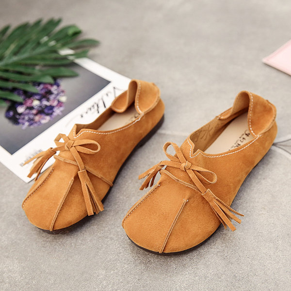 b6ae004577c Soft Leather Slip On Comfortable Lady Flat Loafers