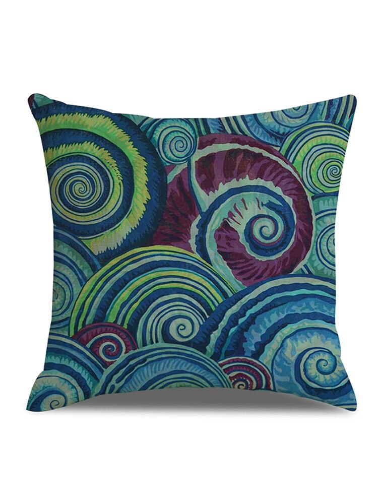 Abstract Element Eddys Printed Linen Cushion Cover Home Sofa Decor Office Car Seat Throw Pillowcase