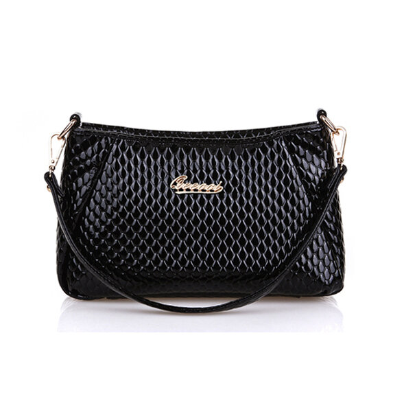 Women Pu Crocodile Crossbody Bag Shoulder Bag Shopping Bag