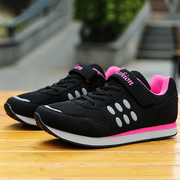 Comfortable Reflective Dot Breathable Hook Loop Casual Shoes