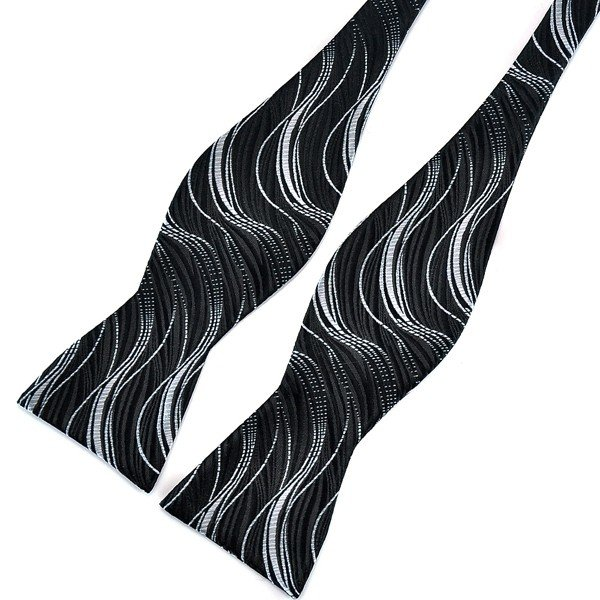 PenSee Men's Casual Pattern Self Bowties Paisley Jacquard Woven Silk Neckties