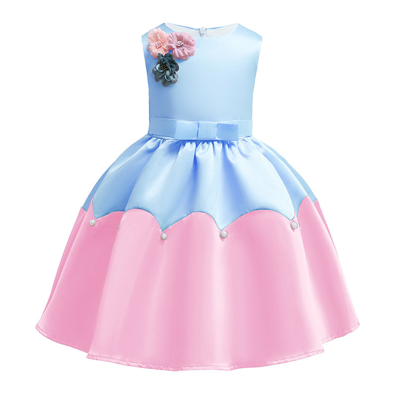 Flower Patch Girls Kids Sleeveless Princess Dress For 3Y-13Y