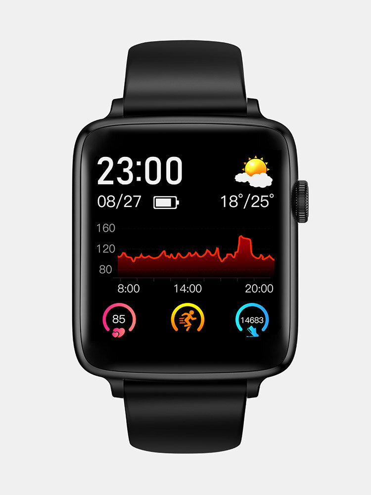 1.54 inch Full-touch Screen 24h Heart Rate Blood Pressure Oxygen Monitor Music Control Smart Watch