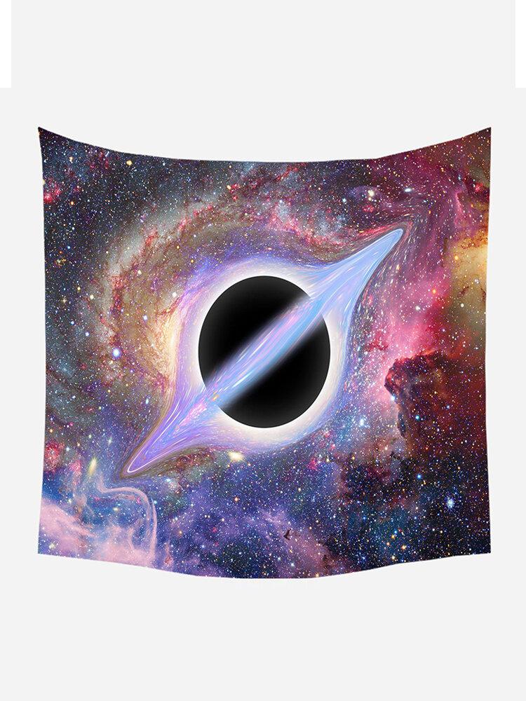 ثلاثية الأبعاد الكون الأسود هول غالاكسي الطباعة نسيج الجدار شنقا نسيج غرفة المعيشة المنزلي ديكور فني