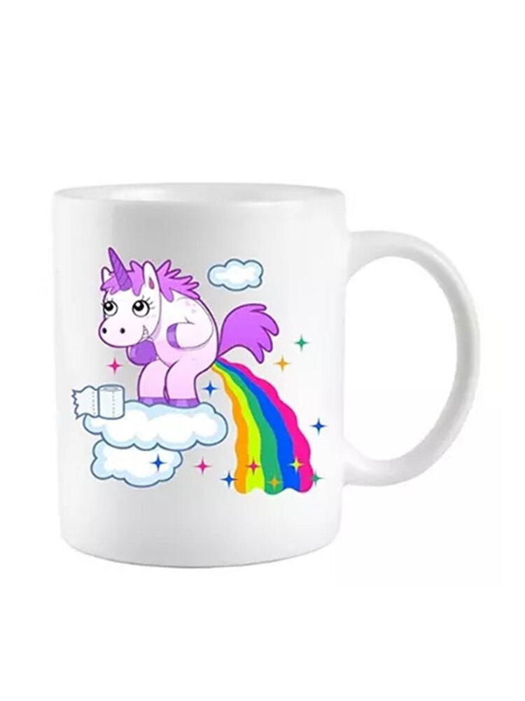 Unicorn Ceramic Coffee Tea Cup Novelty Heat Colour Changing Mug Funny Gift