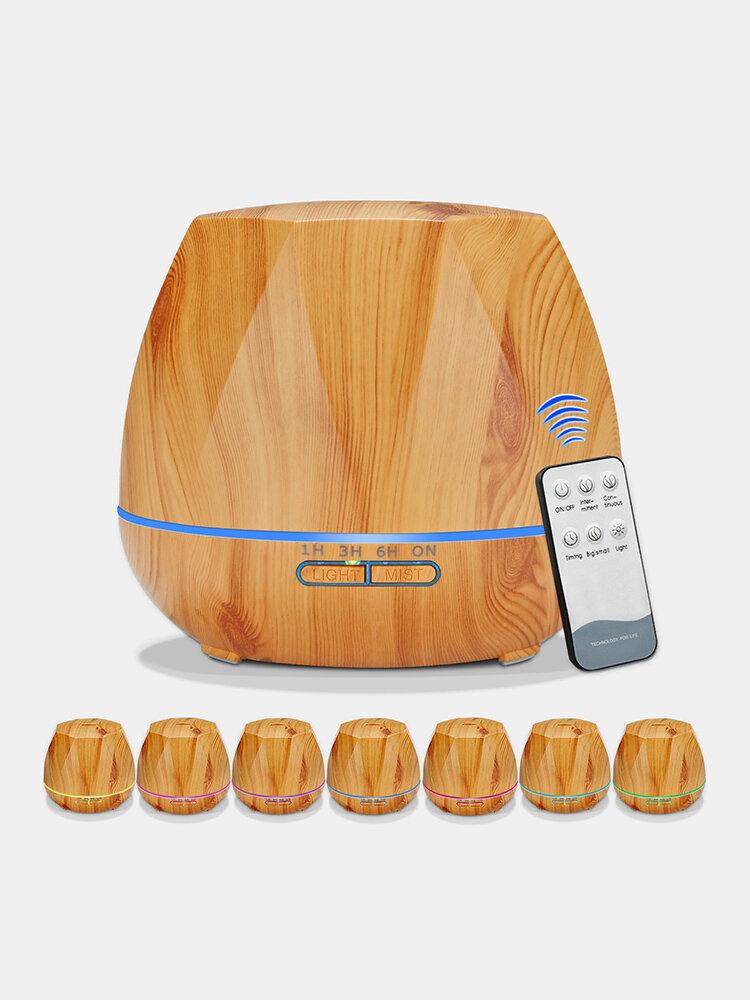 Wood Grain Ultrasonic Air Humidifier Aroma Essential Oil Diffuser Aromatherapy Rhombus