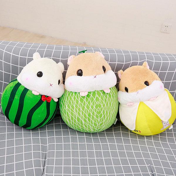 Fruit Plush Cushion for Children Hamster Animal Doll Birtrhday Gift For Kids Stuffed Soft Toys