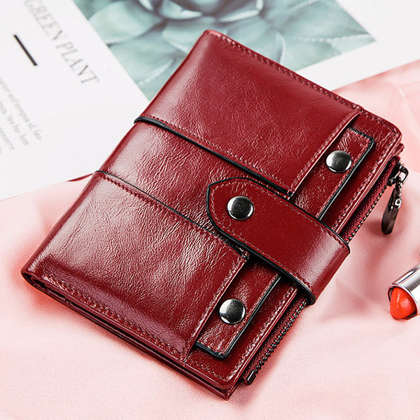 883e1d448ef35b Hot-sale GZCZ Women 10Cards Coin Purse Casual Genuine Leather Wallet ...