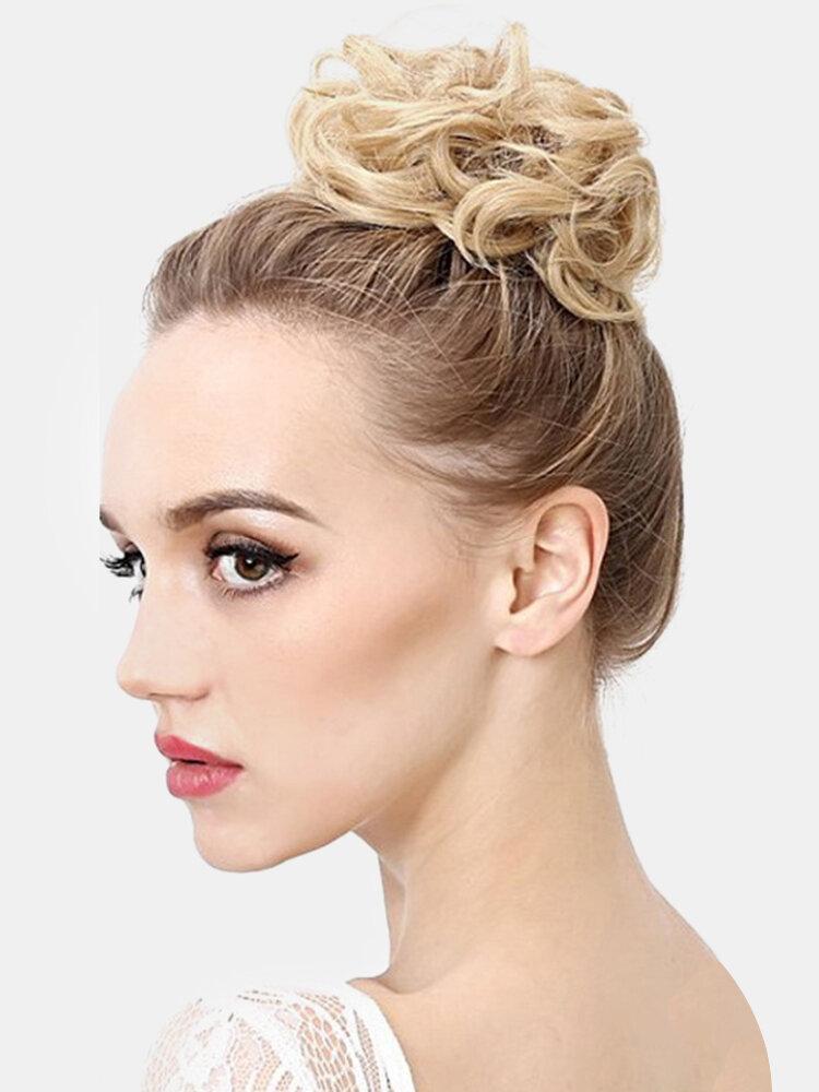 7 Colors Meatballs Wig Hair Ring Hair Bag Hair Accessories Matte High Temperature Silk Hair Ring Styling Tool