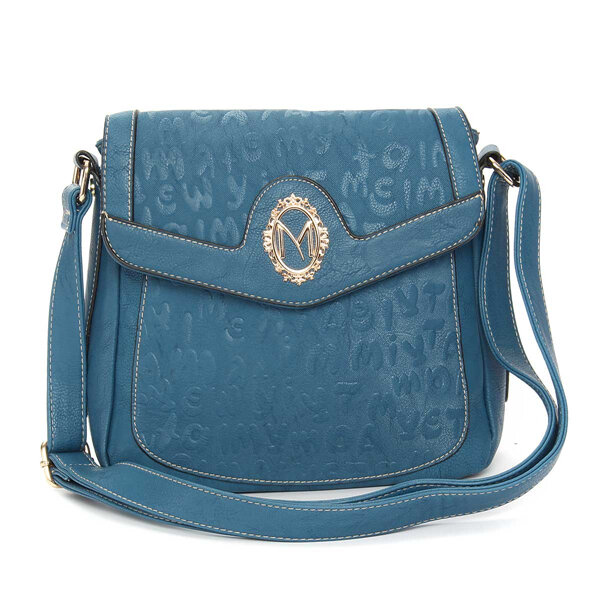 Women Stylish Pure Color PU Leather Crossbody Bag Shoulder Bags