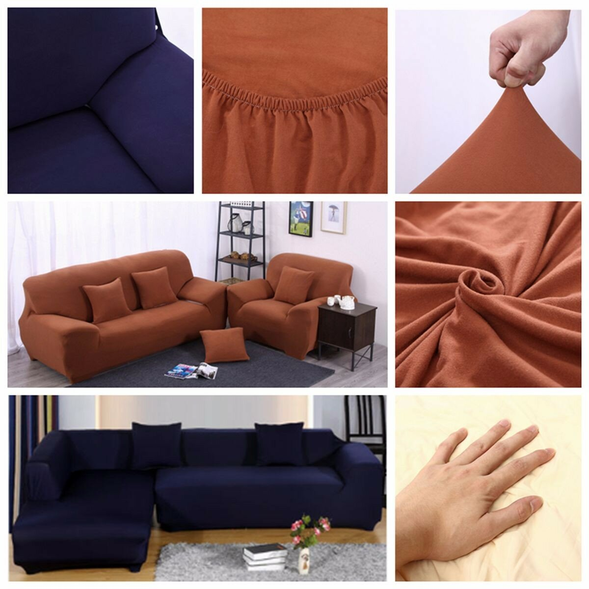 l shape 3 seat stretch elastic fabric sofa cover pet dog rh newchic com