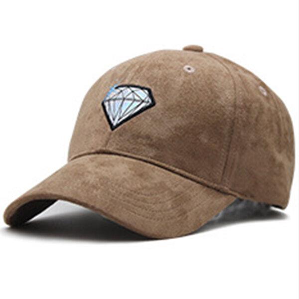Mens Womens Suede Diamonds Solid Color Baseball Cap Sport Casual Comfortable Retro Visor Hats