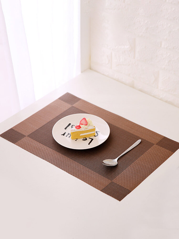 Contracted Simple European Style PVC Placemat Non-Slip Mat Creative Dining Table Mat Bowl Pad