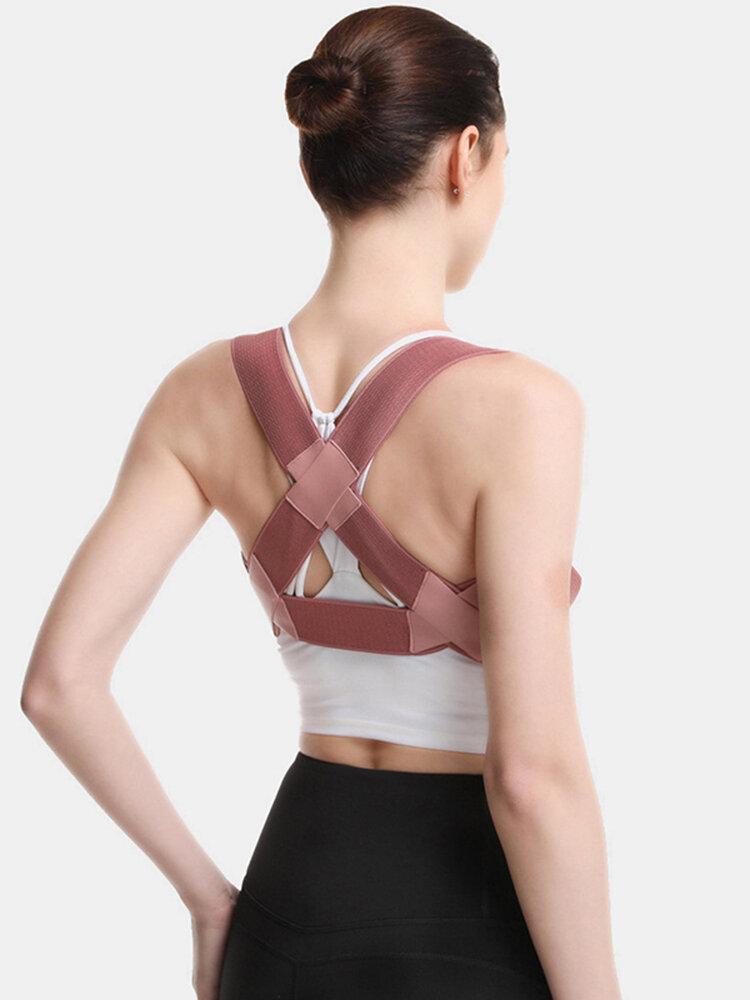 Ceinture de correction de posture réglable respirante améliorer le tempérament prévenir la cyphose correcteur de bossu unisexe