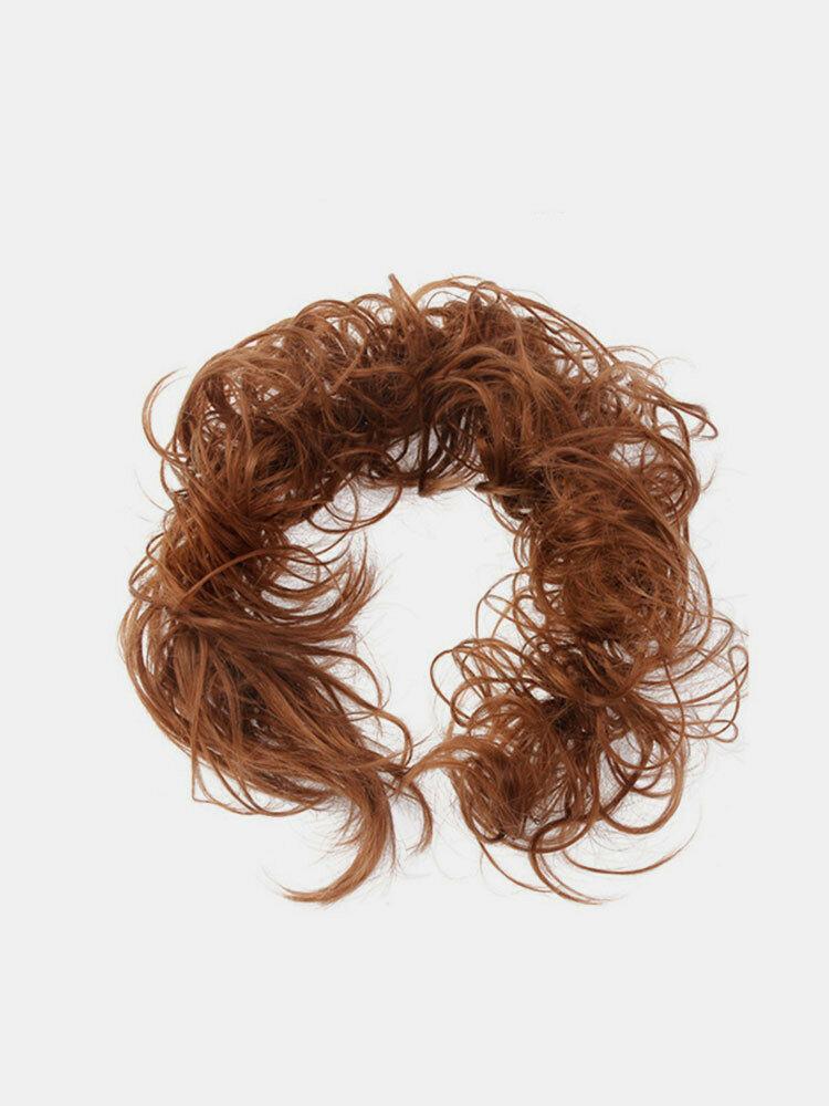14 Colors Long Curly Wig Piece Disk Hair Caterpillars Hair Packs Bride Hair Extensions