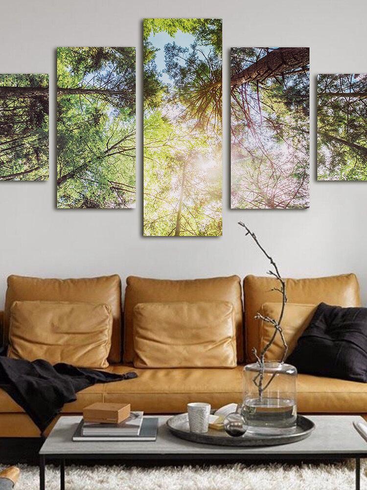 5 piezas moderno sin marco Canva pintura panel arte de la pared cuadro decorativo decoración del hogar