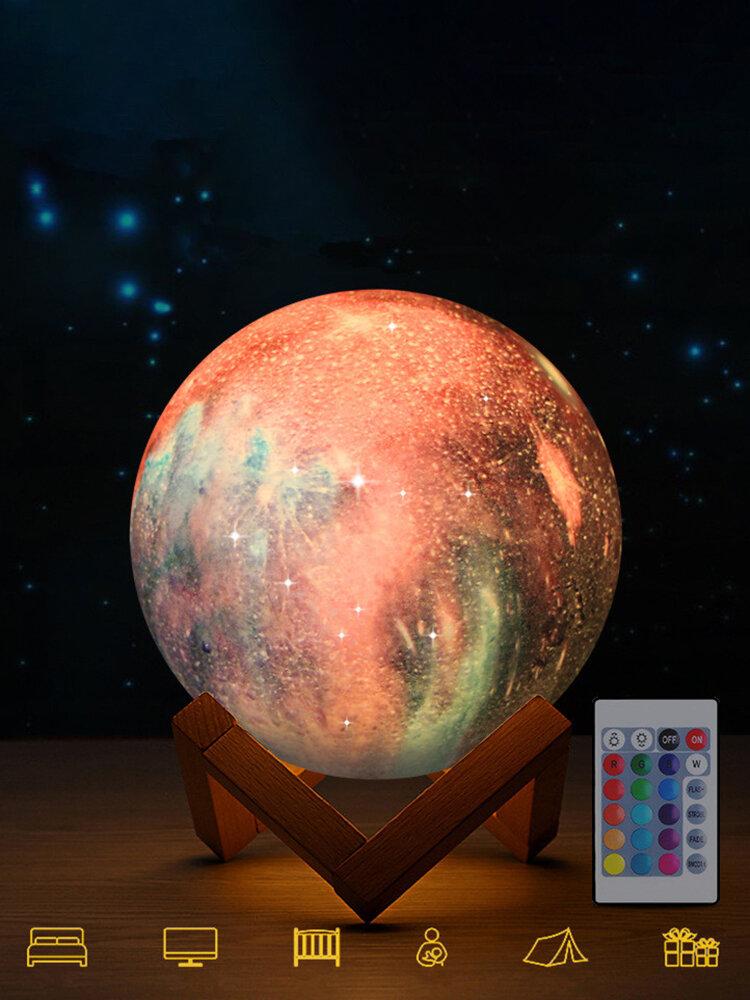 3D-Druck Moon Lamp Space LED Nachtlicht Fernbedienung USB Charge Home Decor
