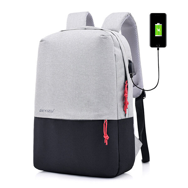 20463de5a3eb Polyester USB Charging Casual 16 Inches Laptop Bag Backpack For Men Women