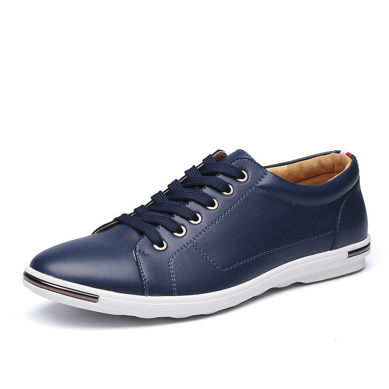 Large Size Men Comfortable Lace Up Flat Casual Shoes