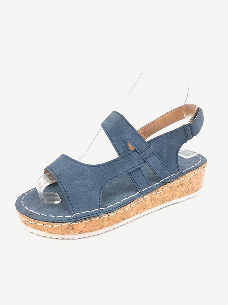 Women Hollow Comfy Wearable Lightweight Casual Platform Sandals