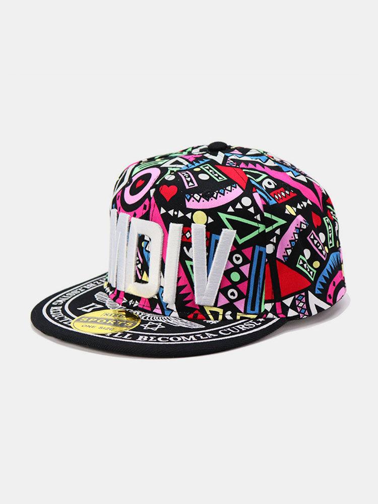 Embroidery Printing Floral Baseball Hat Summer Street Dance Wild Flat-edge Hat Mens Caps