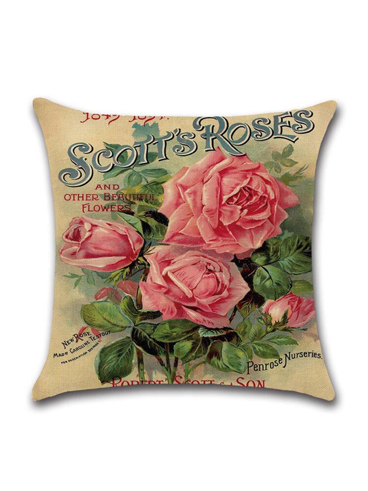 Rose Hug Pillowcase Mediterranean Nordic Style Car Cushion Cover