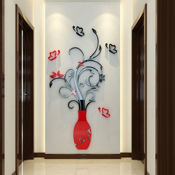 3D Flower Tree Removable Mural Vinyl Decal Wall Sticker Art For Room Home Deco X