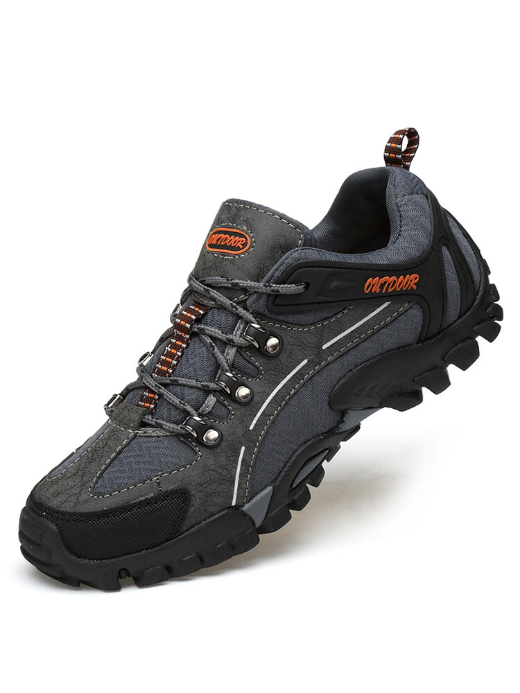 Men Fabric Anti-collision Slip Resistant Soft Sole Casual Hiking Sneakers