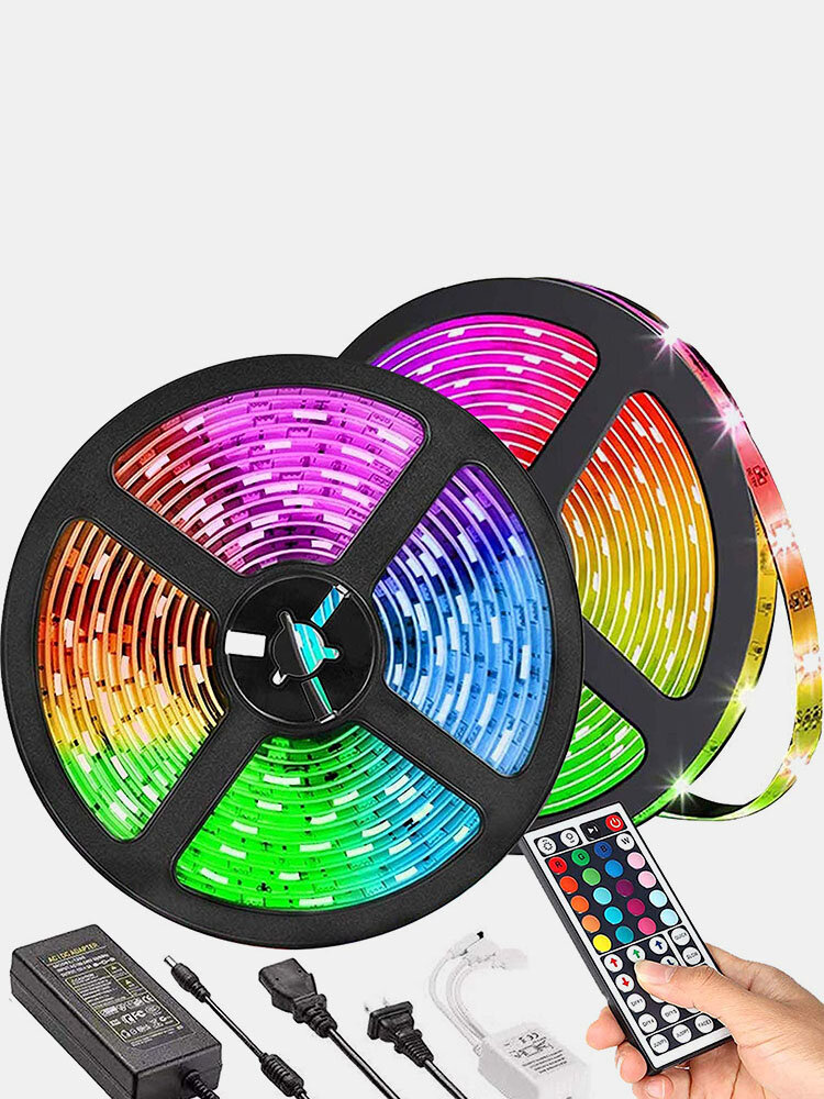 5/10M 12V WiFi Remote Control LED Strip Lights 5050 RGB TV Backlight Staircase Cabinet Indoor Outdoor Decor
