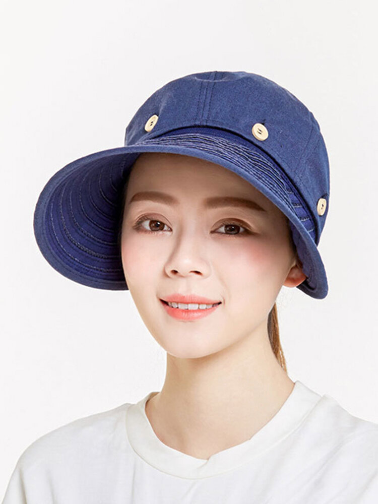 Removable Top Wide Brim Sun Hats Adjustable Breathable Driving Caps Outdoor UV Hats