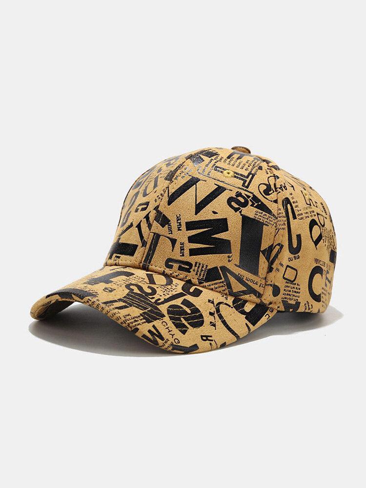 Men Cotton Graffiti Letter Pattern Casual Fashion Outdoor Sunshade Baseball Hat