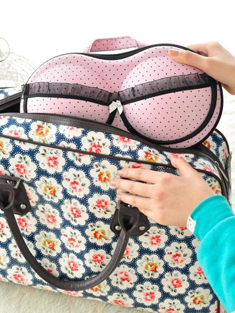 كبير سعة حمالة صدر إبداعية صندوق تخزين ملابس داخلية للسفر حقائب تنظيم محمولة بشبكة 32 سم